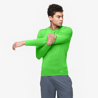 Eastbay EVAPOR Long Sleeve Compression Crew - Men's - Light Green / Light Green
