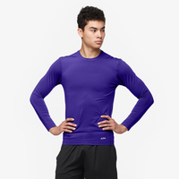 Eastbay EVAPOR Long Sleeve Compression Crew - Men's - Purple / Purple