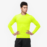 Eastbay EVAPOR Long Sleeve Compression Crew - Men's - Yellow / Yellow