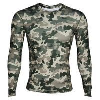 Eastbay EVAPOR Long Sleeve Compression Crew - Men's - Dark Green / Olive Green