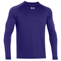 Under Armour Team Locker Long Sleeve T-Shirt - Men's - Purple / Purple