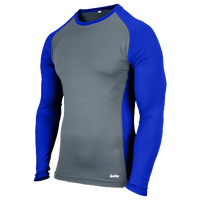 Eastbay EVAPOR Baseball Compression Top - Men's - Grey / Blue