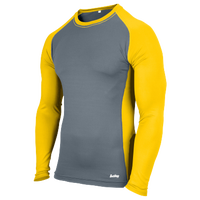 Eastbay EVAPOR Baseball Compression Top - Men's - Grey / Gold