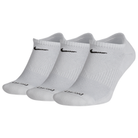 Nike 3 Pack Dri-FIT Plus No Show Socks - Men's - White