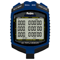 Robic SC-899 540 Triple Memory Chrono - Black / Blue