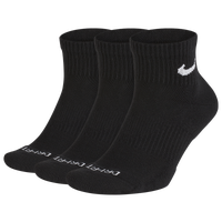 Nike 3 Pack Dri-FIT Plus Quarter Socks - Men's - Black
