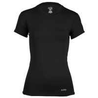 Eastbay EVAPOR Short Sleeve Compression Top - Women's - All Black / Black