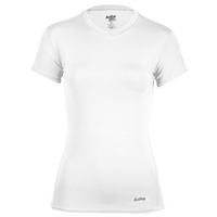Eastbay EVAPOR Short Sleeve Compression Top - Women's - All White / White