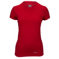 Eastbay EVAPOR Short Sleeve Compression Top - Women's - Red / Red