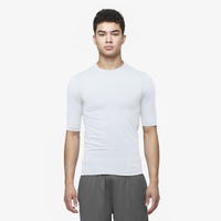 Eastbay EVAPOR Half Sleeve Compression Top - Men's - All White / White