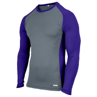 Eastbay Evapor L/S Baseball Compression Top - Boys' Grade School - Purple / Grey