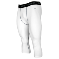 Eastbay EVAPOR Core Compression 3/4 Tights 2.0 - Men's - White / Grey