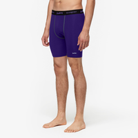 "Eastbay EVAPOR Core 8"" Compression Shorts 2.0 - Men's - Purple / Black"
