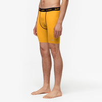 "Eastbay EVAPOR Core 8"" Compression Shorts 2.0 - Men's - Yellow / Black"