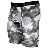 "Eastbay EVAPOR Core 8"" Compression Shorts 2.0 - Men's - Grey / White"
