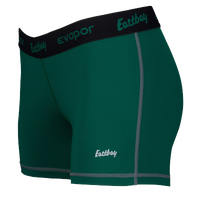 "Eastbay Evapor Core 3"" Compression Shorts - Women's - Dark Green / Black"