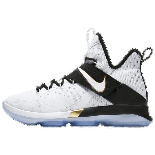 Nike LeBron 14 - Boys' Grade School - Basketball - Shoes - LeBron James -  White/Black/Metallic Gold