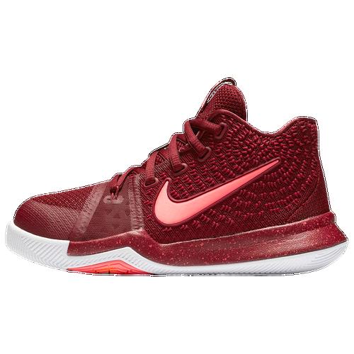 Boys/' Preschool Nike Kyrie 3 Basketball Shoes 869985-005 Black//Dark Grey