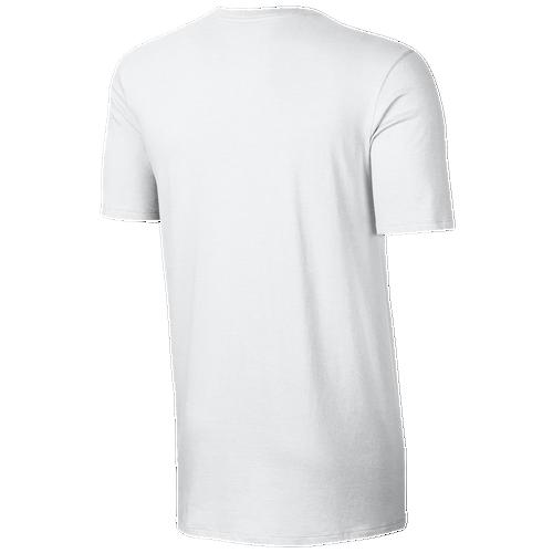 Nike V Neck Futura Embroidered T-Shirt - Men s - Casual - Clothing -  White White Black 2b50afb383