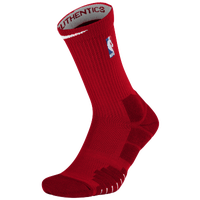Nike NBA Elite Quick Crew Socks - NBA League Gear - Red / White