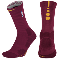 Nike NBA Elite Quick Crew Socks - NBA League Gear - Maroon / Gold
