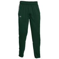 Under Armour Team Qualifier Warm-Up Pants - Men's - Dark Green / White