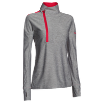 Under Armour Team Hotshot 1/2 Zip - Women's - Grey / Red