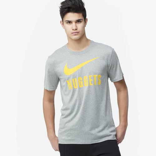 Nuggets Yellow Warm Up Jacket: Nike NBA Swoosh Team T-Shirt