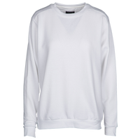 Anvil Crewneck Fleece - Women's - All White / White