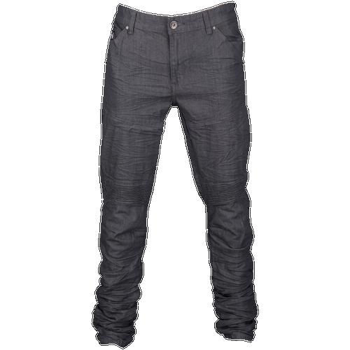 DNM Front Zip Detail Denim Pants - Men's Casual - Grey Raw 7101GRY