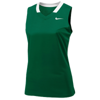 Nike Team Face-Off Sleeveless Game Jersey - Women's - Dark Green / White