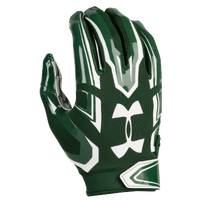 Under Armour F5 Football Gloves - Men's - Dark Green / White