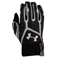 Under Armour Combat V Full Finger Lineman Gloves - Men's - Black / White