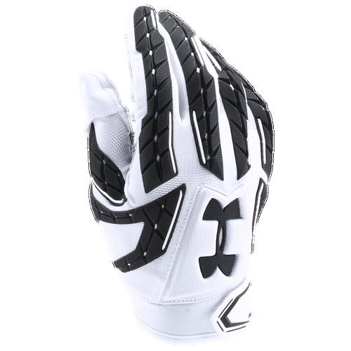 Under Armour Fierce VI Padded Football Gloves   Menu0027s   White / Black