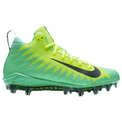 Nike Alpha Menace Pro Mid - Men's - Football - Shoes - Electro Green /Sequoia/Volt