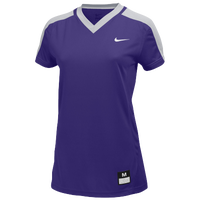Nike Team Dri-FIT Game Top - Women's - Purple / Grey