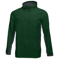 Nike Team Woven 1/4 Zip Jacket - Men's - Dark Green / Grey