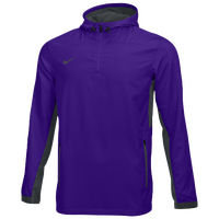 Nike Team Woven 1/4 Zip Jacket - Men's - Purple / Grey