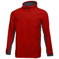 Nike Team Woven 1/4 Zip Jacket - Men's - Red / Grey