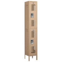 Salsbury Assembled Double Tier Vented Locker - Tan / Tan