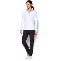 Under Armour Zinger Golf 1/4 Zip - Women's - All White / White