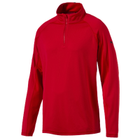 PUMA Core Golf 1/4 Zip Popover - Men's - Red / Red