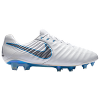 Nike Tiempo Legend 7 Elite FG - Men's - White / Light Blue