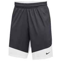 Nike Team Practice Shorts - Boys' Grade School - Grey / White