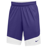 Nike Team Practice Shorts - Boys' Grade School - Purple / White