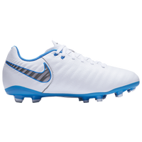 Nike Tiempo Legend 7 Academy FG - Boys' Grade School - White / Light Blue