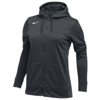 Nike Team Full-Zip Therma Hoodie - Women's - Grey / Grey