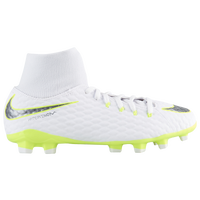 Nike Hypervenom Phantom 3 Academy DF FG - Boys' Grade School - White / Light Green