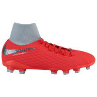 Nike Hypervenom Phantom 3 Academy DF FG - Boys' Grade School - Red / Grey