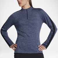Nike Squad 1/2 Zip Top - Women's - Blue / Black